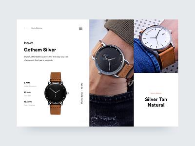 MVMT Watches mvmt ux ui modern clean watch watches website web