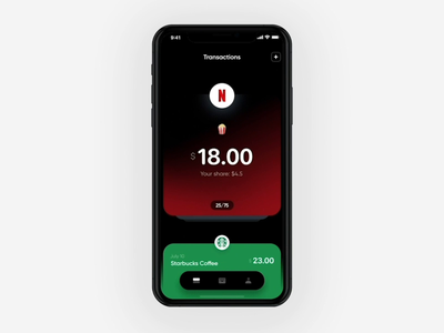 Transactions Screen Exploration payments pay couple banking figma history transactions finance interaction motion cards fintech maise bill split wallet money cryptocurrency crypto bitcoin