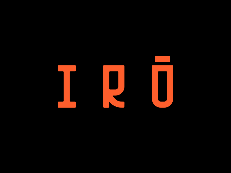 Irô logo typography type design clean branding logo