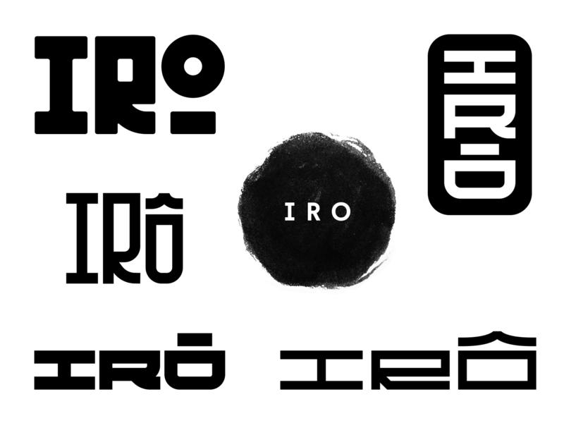 Irô logo experimentations typography typedesign logotype logo design branding logo