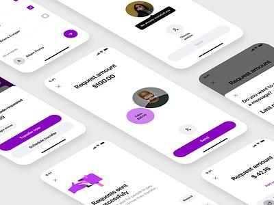 Nubank's split & request minimalist delightful fintech interface design ui design figma mobile design
