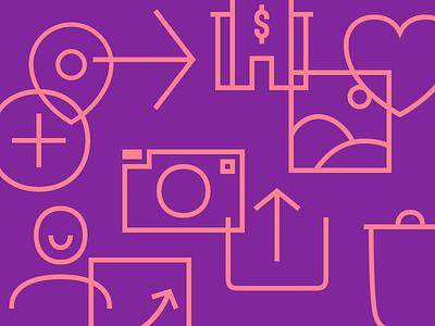 Icon Explorations credit card bank fintech icon design icon