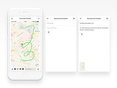 Operam annotation interface app design mobile design mobile interface app mobile ui ios