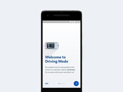 HAR.com Driving Mode Onboarding ui design mobile design interface design ui mobile illustration android