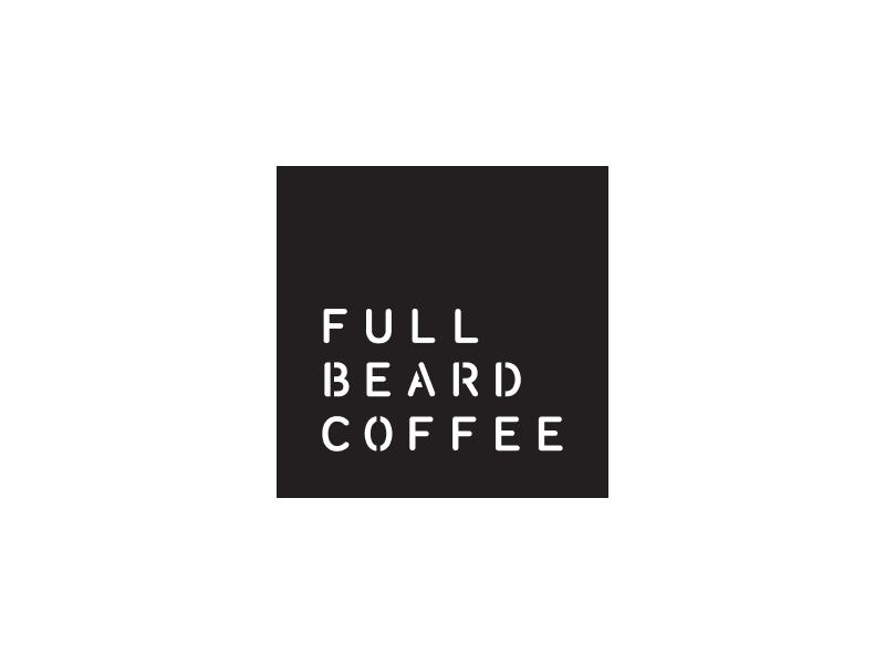 Full Beard Coffee logo coffee logo design gastronomy food typography logo