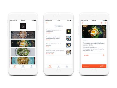 Bitee Restaurant App mobile design app figma mobile typography clean minimalist