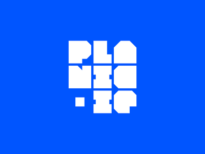 Planic.ie logo wordmark lettermark illustrator glyphs app lettering type design type branding logo design tech typography logo