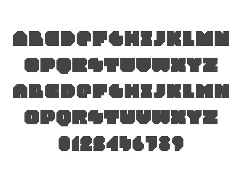 Planic typeface 3