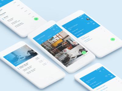Open House app ui ui design mobile design mobile material design interface design figma