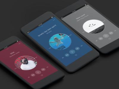 Music player experimentation minimal minimalist music ui ui design mobile design mobile experimentation interface design figma
