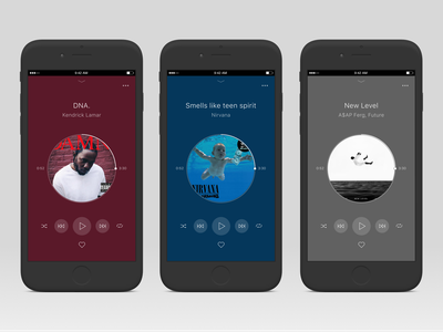 Music player experimentation minimal minimalist music ui ui design mobile design mobile experimentation interface design figma