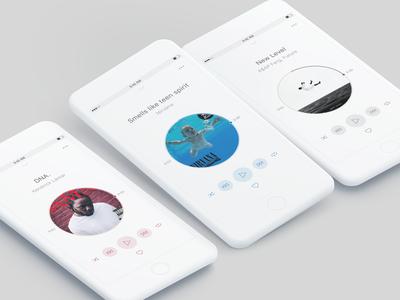 Music player experimentation - light version ui design ui music mobile design mobile minimalist minimal interface design figma experimentation