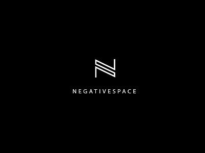 Negativespace Logo negativespace black and white line art logo