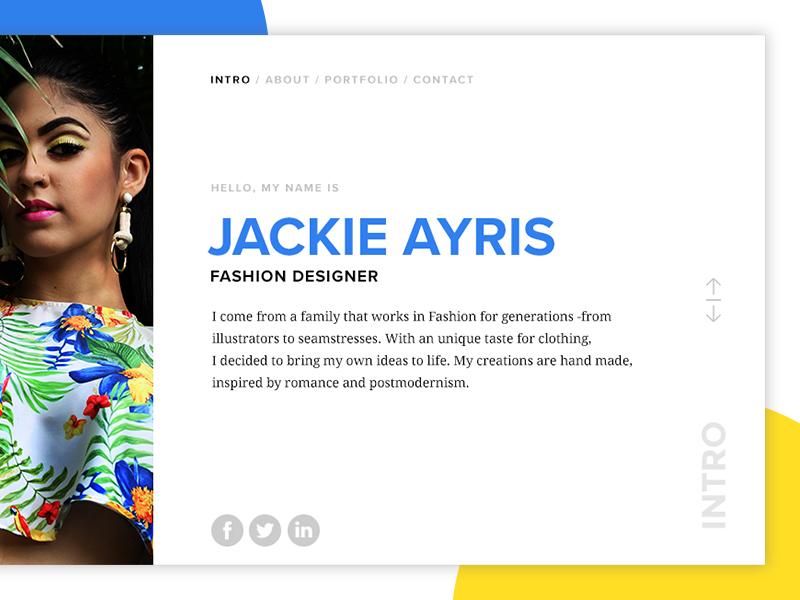 Fashion Designer Portfolio Personal Website