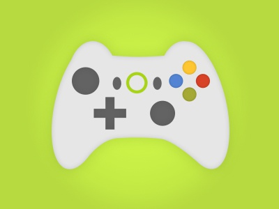 Control vector flat games controller xbox illustration