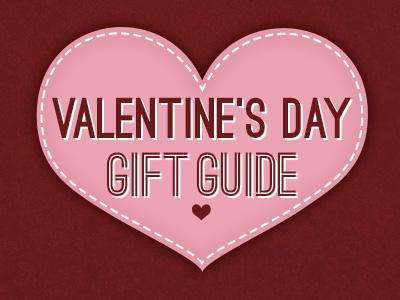 Valentine's Day Gift Guide flat typography ostrich valentines