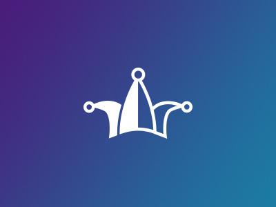 Joker Icon joker icon cards gradient flat simple illustration