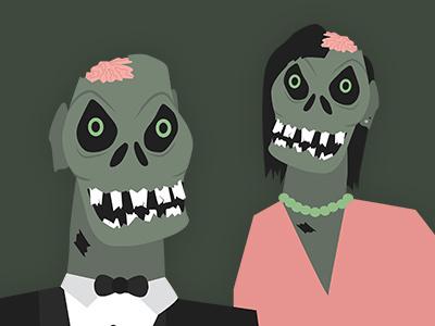 Zombs zombies illustration flat
