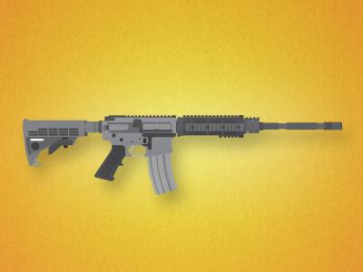Shiny Toy Guns ar-15 gun illustration flat