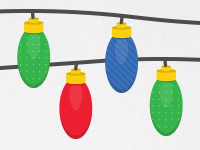 Holiday Lights illustration flat design holiday lights christmas hanukkah winter playful