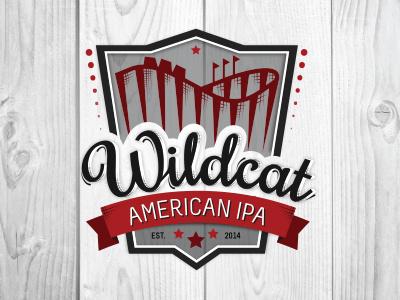 Wildcat American IPA logo illustration wildcat roller coaster beer ipa