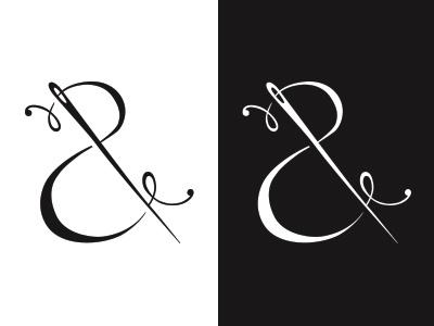 Needle And Thread Revisited logo branding fashion illustration flat mark clean feminine feminine