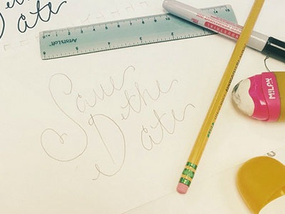 Save the Date sketch hand-lettering typography pencil sharpie ideas