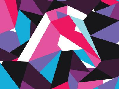 Dark Horse illustration neon geometric cubism horse katy perry