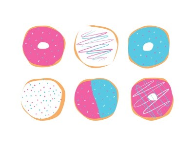 Donut Mess with Me, OK illustration bright flat donuts food playful fun inspiration