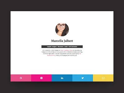 New Website! web developement design flat personal portfolio
