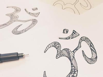 Zen Monday pen om zen symbol zendoodle doodling sketch line art