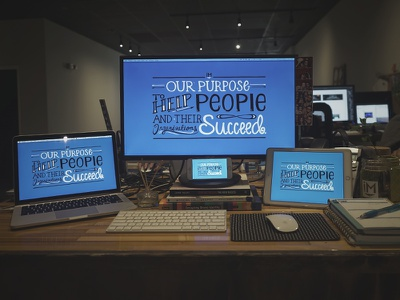 Our Purpose marketing freebie digital download wallpaper background type design hand lettering lettering typography