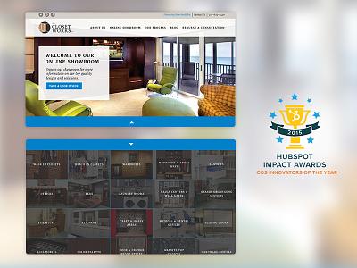 Hubspot Cos Innovators of the Year innovation showroom gallery meganav cos ui ux web design design