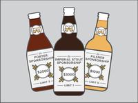 Sponsorship Beer Tiers