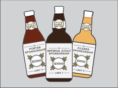 Sponsorship Beer Tiers tiers beer flat illustration