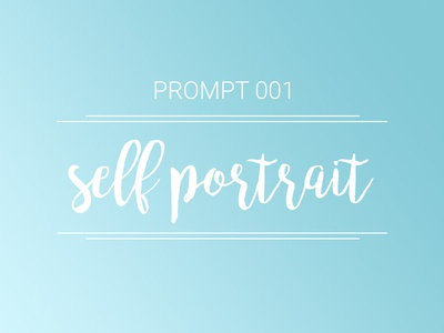 "Introducing ""The Prompt"" prompt self portrait community design drawing hand lettering painting creative selfie illustration exercise prompt001"