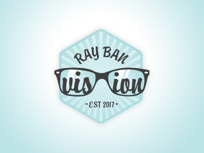 The Ray Ban Vision Merit Badge icon illustration skills tools creative merit badge badge glasses ray-ban prompt002