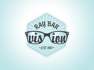 The Ray Ban Vision Merit Badge icon illustration skills tools creative merit badge badge glasses ray-ban prompt002