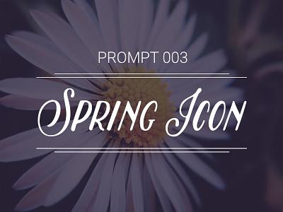 Prompt 003: Spring Icon scene season creative equinox spring illustration icon exercise prompt prompt003