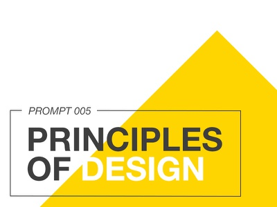 Prompt 005: Principles of Design fundamentals principles principles of design creative badge illustration icon exercise prompt005