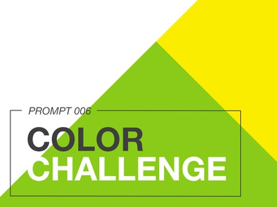 Prompt 006: Color Challenge yellow green creative color illustration icon challenge submission exercise prompt006