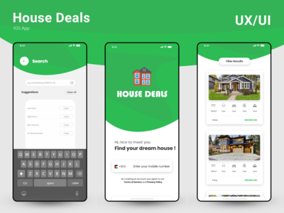 UX/UI Design for IOS House Deals App