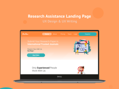 Web Landing Page UX Design & Writing