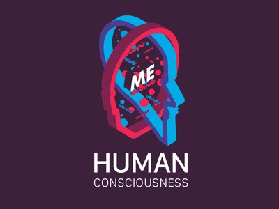 Human Consciousness art abstract typography illustration graphic design