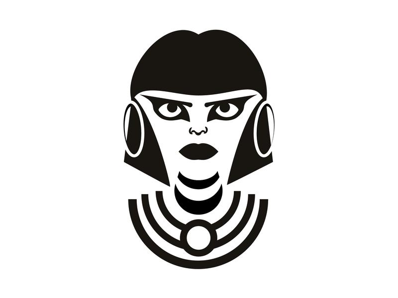 The stare of Cleopatra simplistic minimalistic minimalism illustrator vector imnotgoodataddingtags portrait illustration cleopatra face portrait graphic illustration design