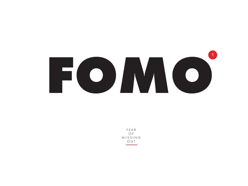 FOMO flat type futura poster typography graphic design