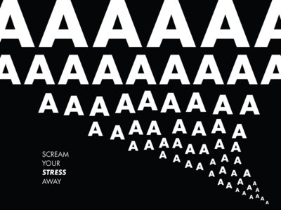 Aaaaaaaaaaaa simple white black design poster type futura typography