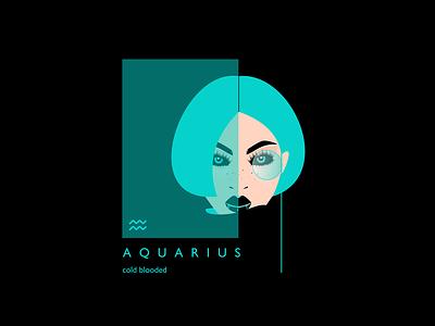 Aquarius girl illustration girl character aquarius zodiac sign zodiac blue character illustrator illustraion