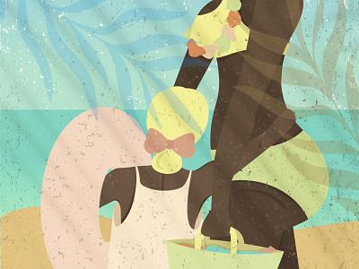 One Summer's Day artwork art girlillustration beach summerillustration colors digitalillustration digital graphic design illustration
