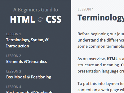 Code Academy Class Intro html css lessons